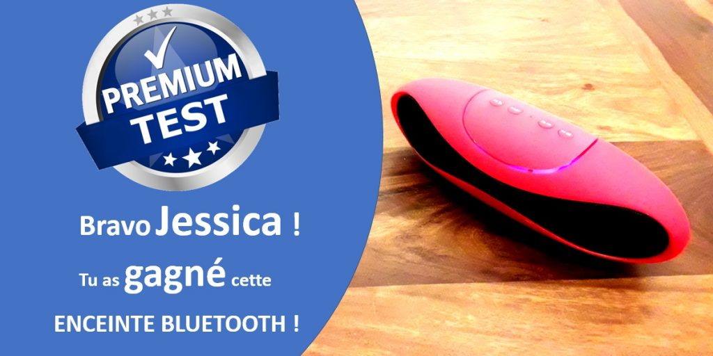 Enceinte bluetooth rouge